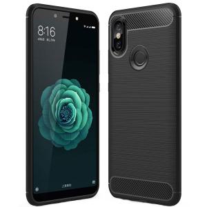 Husa Air Carbon pentru Xiaomi Mi A2, Negru0