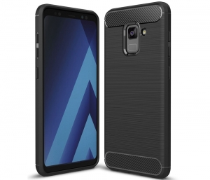 Husa Air Carbon Samsung Galaxy A8 (2018), Negru0