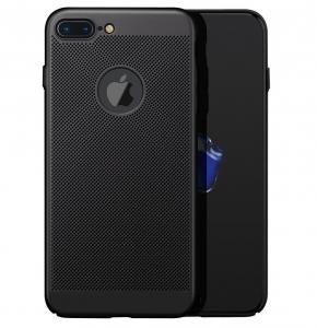 Husa Air cu perforatii iPhone 7 Plus, Negru [0]