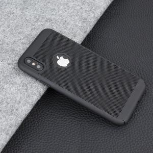 Husa Air cu perforatii iPhone X, Negru1