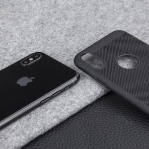 Husa Air cu perforatii iPhone X, Negru2