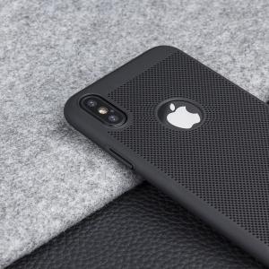 Husa Air cu perforatii iPhone X, Negru3