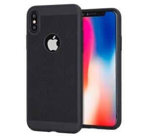 Husa Air cu perforatii iPhone X, Negru0