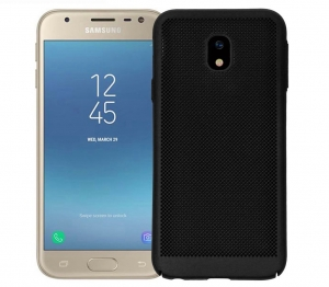Husa Air cu perforatii Samsung Galaxy J3 (2017), Negru [0]