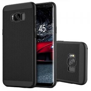 Husa Air cu perforatii Samsung Galaxy S8 Plus, Negru0