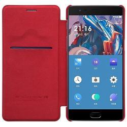 Husa Book Nillkin Qin OnePlus 3, Rosu2