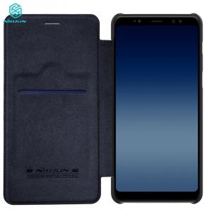 Husa Book Nillkin Qin Samsung Galaxy A8 (2018), Negru2