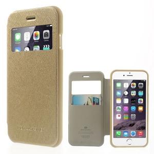 Husa Book View Mercury Goospery Wow iPhone 7, Gold2