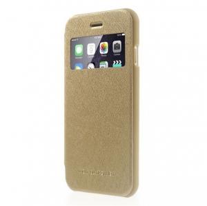 Husa Book View Mercury Goospery Wow iPhone 7, Gold0