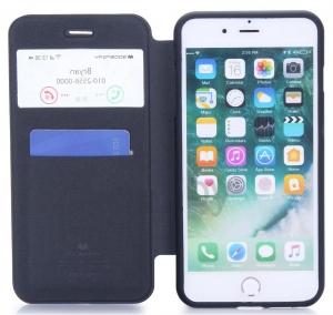 Husa Book View Mercury Goospery Wow iPhone 7 Plus, Negru2