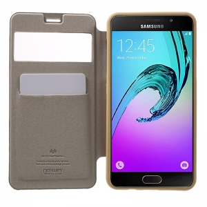 Husa Book View Mercury Goospery Wow Samsung Galaxy A5 (2016), Gold2