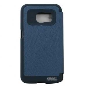 Husa Book View Mercury Goospery Wow Samsung Galaxy S6 Edge, Albastru1
