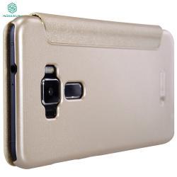 Husa Book View Nillkin Sparkle Asus ZenFone 3 ZE552KL, Gold4
