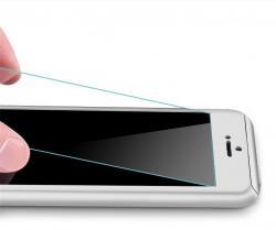 Husa Full Cover 360 (fata + spate + geam sticla) pentru Apple iPhone 7, Silver1