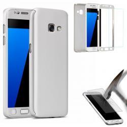 Husa Full Cover 360 (fata + spate + geam sticla) pentru Samsung Galaxy A5 (2017), Silver1