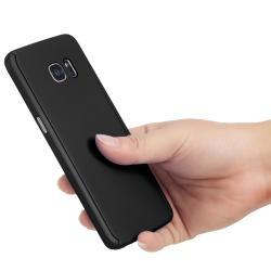 Husa Full Cover 360 (fata + spate) pentru Samsung Galaxy S7 Edge, Negru2