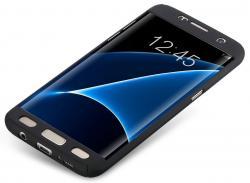 Husa Full Cover 360 (fata + spate) pentru Samsung Galaxy S7 Edge, Negru1