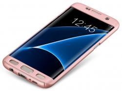 Husa Full Cover 360 (fata + spate) pentru Samsung Galaxy S7 Edge, Rose Gold1