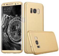 Husa Full Cover 360 (fata + spate) pentru Samsung Galaxy S8 Plus, Gold [0]