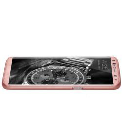 Husa Full Cover 360 (fata + spate) pentru Samsung Galaxy S8, Rose Gold1
