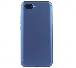 Husa Full Cover 360 + folie sticla Huawei Honor 10, Albastru [1]