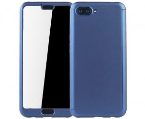 Husa Full Cover 360 + folie sticla Huawei Honor 10, Albastru [0]