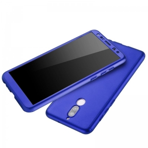 Husa Full Cover 360 + folie sticla Huawei Mate 10 Lite, Albastru