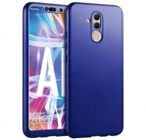 Husa Full Cover 360 + folie sticla Huawei Mate 20 Lite, Albastru0