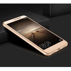 Husa Full Cover 360 + folie sticla Huawei Mate 9, Gold2