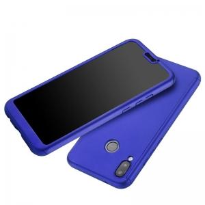 Husa Full Cover 360 + folie sticla Huawei P20 Lite, Albastru1