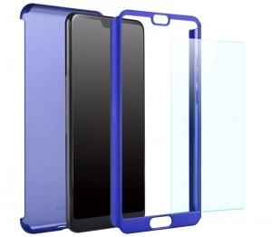Husa Full Cover 360 + folie sticla Huawei P20 Pro, Albastru1