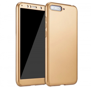 Husa Full Cover 360 + folie sticla Huawei Y6 (2018), Gold [0]