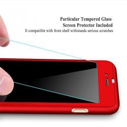Husa Full Cover 360 + folie sticla iPhone 6 / 6S, Red2