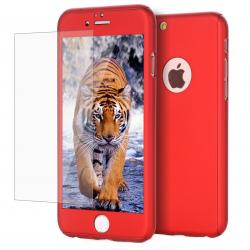 Husa Full Cover 360 + folie sticla iPhone 6 / 6S, Red0
