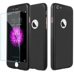 Husa Full Cover 360 + folie sticla iPhone 8, Negru0