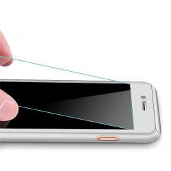 Husa Full Cover 360 + folie sticla iPhone 8 Plus, Silver1