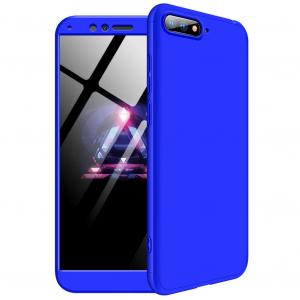 Husa Full Cover 360 + folie sticla pentru Huawei Honor View 10, Albastru [0]