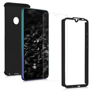 Husa Full Cover 360 + folie sticla pentru Huawei P Smart (2019), Negru1