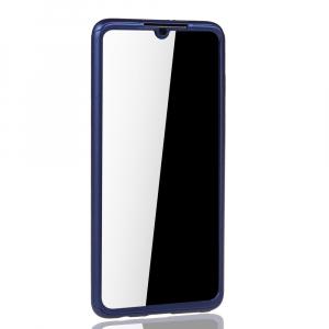 Husa Full Cover 360 + folie sticla pentru Huawei P30, Albastru2