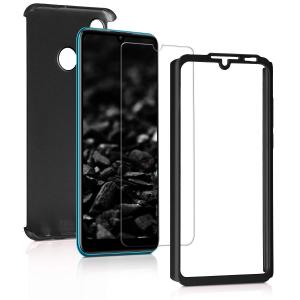 Husa Full Cover 360 + folie sticla pentru Huawei P30 Lite, Negru1