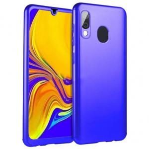 Husa Full Cover 360 + folie sticla pentru Samsung Galaxy A20e, Albastru0