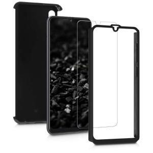 Husa Full Cover 360 + folie sticla pentru Samsung Galaxy A50, Negru1
