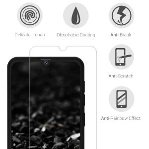 Husa Full Cover 360 + folie sticla pentru Samsung Galaxy A70, Negru3