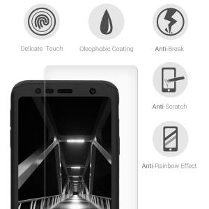 Husa Full Cover 360 + folie sticla pentru Samsung Galaxy J4 Plus (2018), Negru3