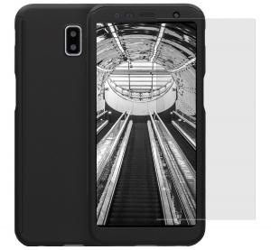 Husa Full Cover 360 + folie sticla pentru Samsung Galaxy J6 Plus (2018), Negru0