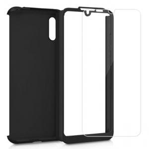 Husa Full Cover 360 + folie sticla pentru Samsung Galaxy M10, Negru1