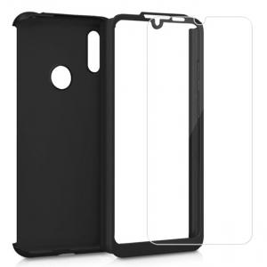 Husa Full Cover 360 + folie sticla pentru Samsung Galaxy M20, Negru1
