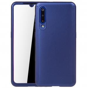 Husa Full Cover 360 + folie sticla pentru Xiaomi Mi 9, Albastru0