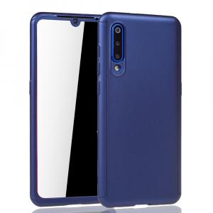 Husa Full Cover 360 + folie sticla pentru Xiaomi Mi 9, Albastru1