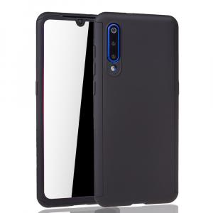 Husa Full Cover 360 + folie sticla pentru Xiaomi Mi 9, Negru1